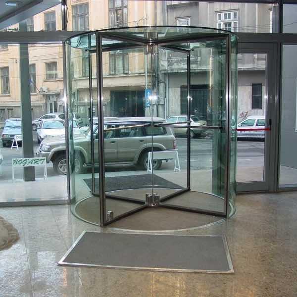 Porte tournante automatique en verre - Boon Edam Crystal Tourniket